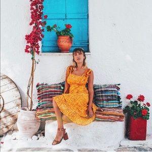 NWOT Lovers & Friends Day Keeper Midi Dress Small